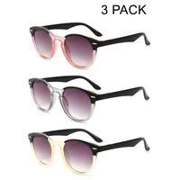3 PACK Tinted Reading Glasses Sunglasses Gradient Retro Readers Vintage +1.0~4.0