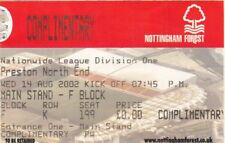 Ticket - Nottingham Forest v Preston North End 14.08.02
