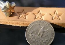 014-13 STAR Leather Stamp Saddlery Tool 3D Brass Punch hand made