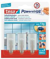 tesa Powerstrips® Haken Small 57544 chrom