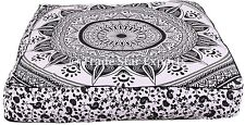 Indian Dog Bed Cushion Cover Large Square Mandala Cover Decorative Pillow Case