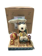 Peanuts by Jim Shore Figurine, Beach Buddies, Snoopy and Woodstock, New, 4049415