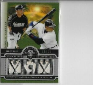 2010 TOPPS STERLING #3ccr-41 MIGUEL CABRERA GAME USED BAT RELIC 19/25 TIGERS