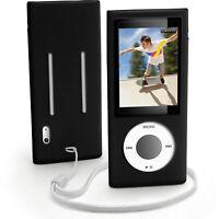 Black Silicone Skin Case for Apple iPod Nano 5th Gen 5G Cover Holder
