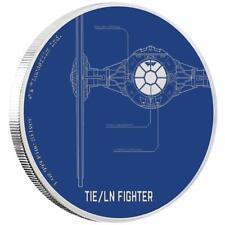 Niue 2 Dollar 2017 - TIE/LN Fighter - Star Wars Ships (4.) - 1 Oz. Silber PP