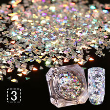 New Charm Nail Glitter Sequins Paillette Laser Triangle 3D Nail Art Decoration