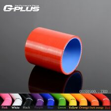 """3"""" 76mm Silicone Straight Hose coupler Turbo Intercooler Pipe Hoses Red"""