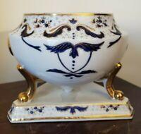 Vintage French Porcelain Jardiniere Cachepot Planter Cobalt