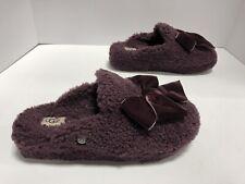 UGG Addison Purple Velvet Bow Slipper Women's Size 9M