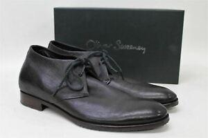 OLIVER SWEENEY Men's The Secret Dark Brown Leather Concealed Gadget Shoes UK10.5