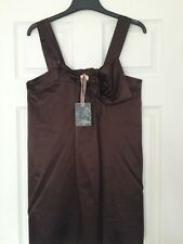 Lovely Ladies Brown Silky Summer Top -Miso Size 12 ⭐️BNWT⭐️