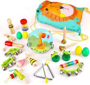 Kleinkinder Holz Musikspielzeug Set Tamburin Rhythmus Schlaginstrumente für Kind