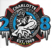 """*NEW* Charlotte  Engine - 28  """"Defenders of North"""", NC (4.5"""" x 4"""") fire patch"""