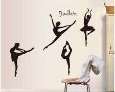 Wandtattoo Wandposter Wandsticker Musik Kunst Ballett Silhouette 105 X 103 W105