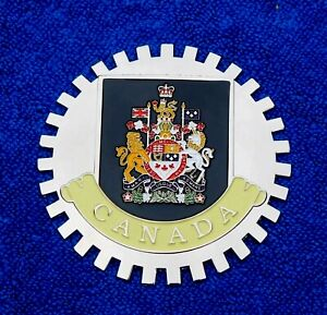 Canada Canadian Grille Badge License Plate Topper Accessory Crest Fits GM Chevy