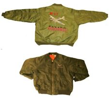 B-17 Flying Fortress MA1 WWII Bomber Jacket embroidered back and front