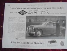 1958 CAR ADVERT RILEY TWO POINT SIX BMC Riley Motors Cowley