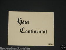 Hotel Continental Paris France Westin WW2 era New Years Greeting Aimé Dallemagne