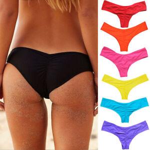 new Damen Brazilian G-String Slip Bikinihose Sommer Bikini Tanga Brasil String-