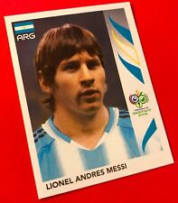ROOKIE PANINI STICKER # 185 LIONEL MESSI WORLD CUP GERMANY 2006 MINT RARE