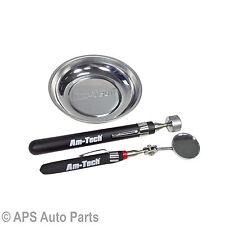 3pc Kit de acero magnético Bandeja Telescópica Pastilla herramienta Espejo de inspección conjunto