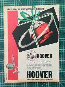 112 PUBLICITE ANCIENNE 1950 34x25cm Aspirateur boule Hoover