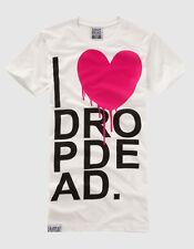 Drop Dead - I Heart T-Shirt - Guys Medium