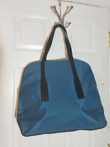 DSW Large TEAL Print - Black Straps Handbag Shoulder Bag Tote Purse - NWOT