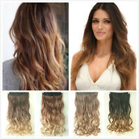 3/4 Full Head Clip in Hair Extensions One Piece 5 Clips Hairpieces