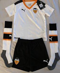 Puma Kids Valencia CF Uniform Kit Soccer Set Jersey/Shorts/Socks. Kids Size: 5-6