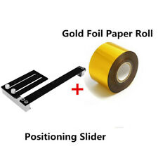 4CM Gold Stamping Paper + Positioning Slider Fixture Hot Foil Embossing Machine