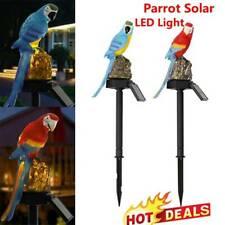 Parrot Solar Powered LED Light Garden Lawn Ornament Waterproof Lamp