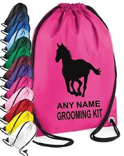PERSONALISED Horse Riding Grooming Kit Bag 13 colours Add Childs or Horse Name