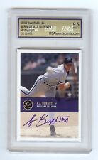 A.J. BURNETT Portland Sea Dogs Certified 2000 AUTOGRAPH RC Graded MINT+ 9.5