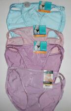 4 Vanity Fair String Bikini Panty Set Illumination 7 L 18108 Sexy Pink Blue NWT