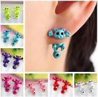 Vintage Charm Kitten Multiple Color Ear Jewelry Cat Stud Earrings Women Trendy H