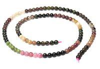 😏 Turmalin Perlen farblich sortierte Kugeln 4 mm Edelsteinperlen Strang 😉