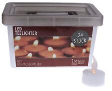 24 LED Teelichter Flackerlicht flackernd flammenlos Teelicht Kerzen + Batterie