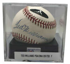 Ted Williams Signed Autographed OAL Baseball PSA/DNA Graded 9 Green Diamond