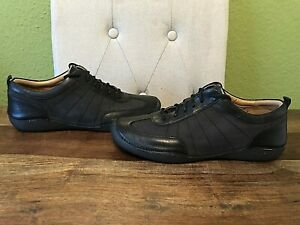 Womens Black Leather Wide Fit Clarks Artisan Shoes / Trainers - Size UK 7 E