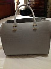 Preowned H&M Gray Skin Structured Bag; Lined; ZIP Closures; Side Snap  $50
