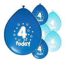 "30 X 4th BIRTHDAY BOY BALLOONS ""4 TODAY""  BIRTHDAY BALLOONS MIX BLUE (PA)"