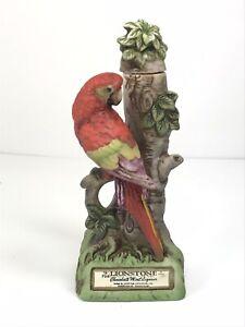 Scarlet Macaw Lionstone Porcelain Vintage  Japan 1974, Limited edition decanter