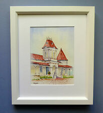"Original Framed  Watercolour ""Squatter's Palace"" North Bundaleer,South Australia"