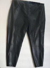 M&S Twiggy Faux Leather Skinny Jeggings Black Leggings UK Size 20 - Short