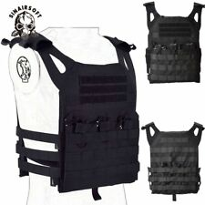 Tactical Military Vest Combat Plate Carrier JPC simplified Molle Mag Pouch Black