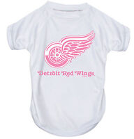 NEW DETROIT RED WINGS PET DOG PINK PERFORMANCE T-SHIRT ACTIVE TEE ALL SIZES