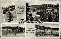Friedenweiler AK 1964 Mehrbildkarte Schwarzwald Winter Ski Wald Bäume Häuser
