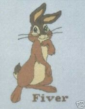 "Watership Down ""cinco dólares"" Cross Stitch Kit-dmc-Conejo-Conde 14 - 5"" X 7"""
