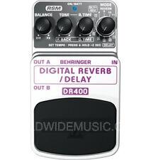 Behringer DR400 Digital Reverb/delay guitarra efectos Pedal
